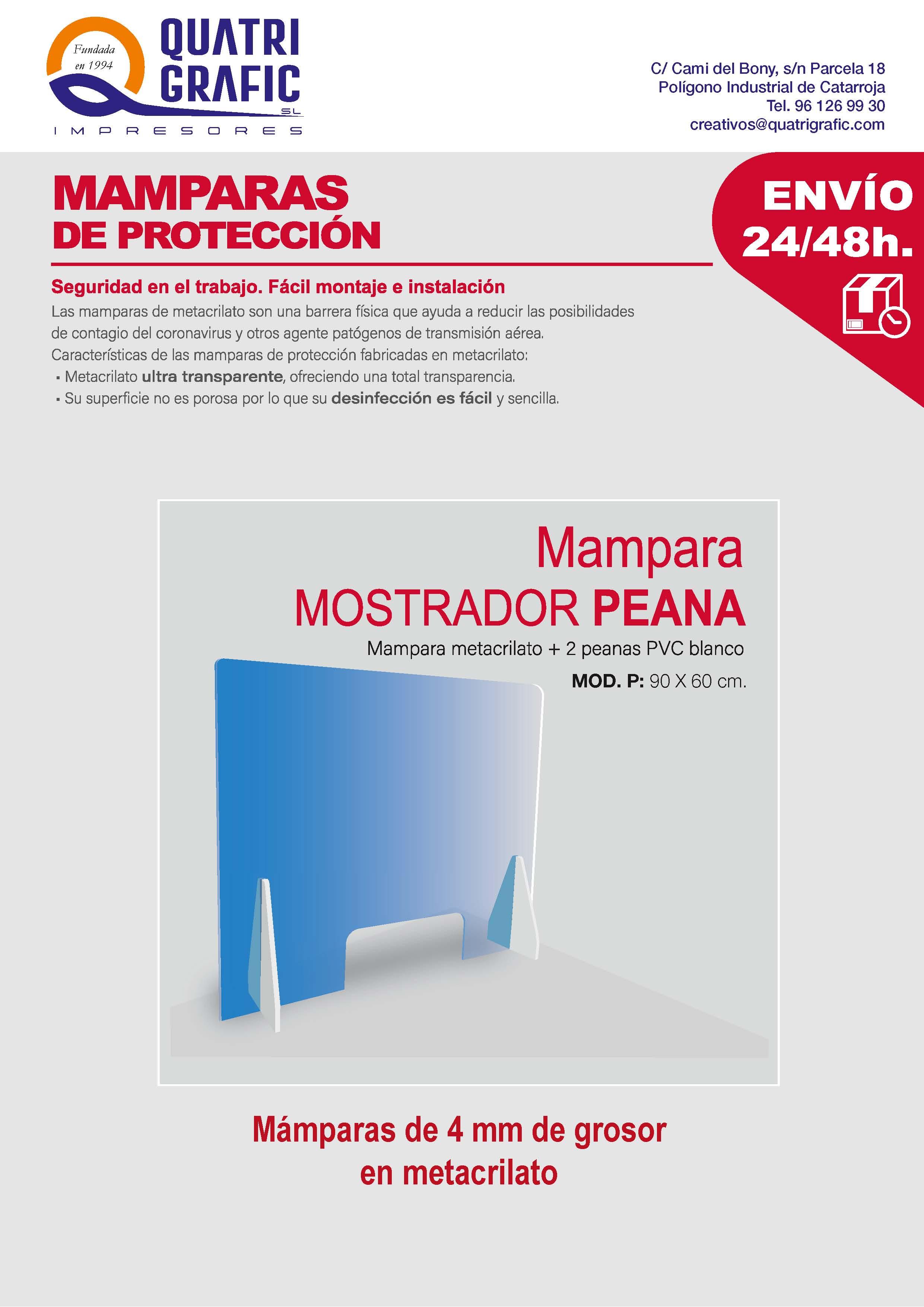 mamparas protección